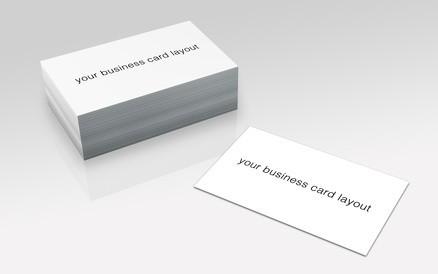 visitenkarten template weiß